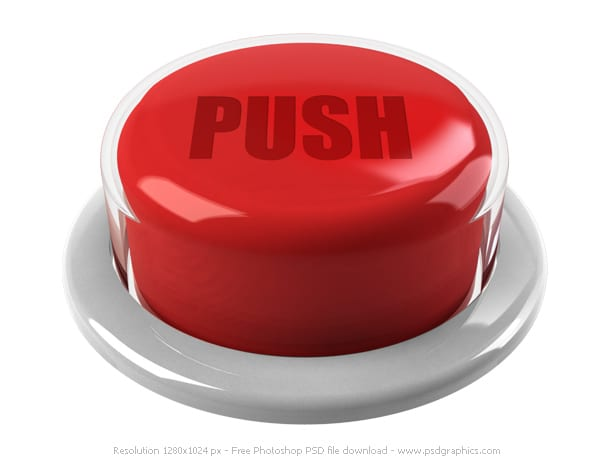 """Picture of Red button with the word """"PUSH"""""""